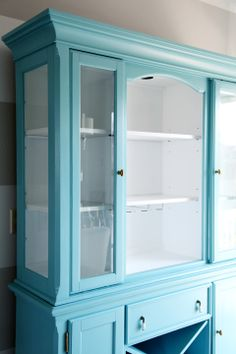 IHeart Organizing: Painted Dining Room Hutch