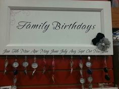 Family birthday sign...sweet