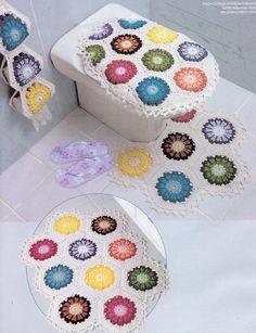Patrones para Crochet: Conjunto de Baño Patron