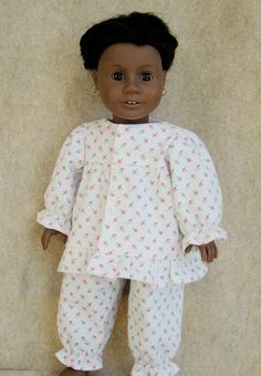 FREE PDF sewing pattern - American Girl / 18-inch doll (this is sooo perfectly adorable on Addy!)