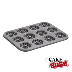 Cake Boss 12-Cup Molded Round Braid Cookie Pan. #giveaway. Make one for each guest.