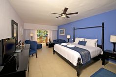 Privilege room at Ocean Blue & Sand resort in Punta Cana, Dominican Republic.#OceanH10Hotels