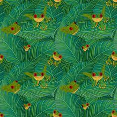 Amphibian Romance on the Sunrise Terrace - siya - Spoonflower