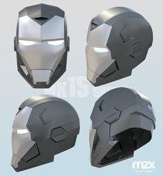 Patrón de pepakura de v2 de casco marca 15 astuto por MaxCrft