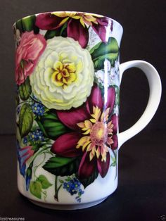 Fine Bone China Coffee Tea Cup Floral Print St. George Made in England  #StGeorge,  To view more available items, please visit http://www.tcstreasures.net