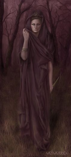 Medea - a sorceress, niece of Circe, granddaughter of the sun god Helios, and wife to the hero Jason, with whom she had two children; she killed them after her husband's betrayal