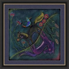 Pink Pony Framed Print featuring the painting Night Time Dichotomy by Marti McGinnis