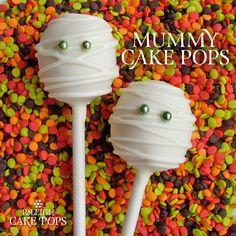 Mummy #CakePops for #Halloween