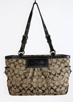 ... EDIE shoulder bag 42 in glovetanned leather Coach Brown Signature  Jacquard Black Patent Leather Tote Shopper Bag Purse F1428 Coach  TotesShoppers ... 236a1c845ac5b