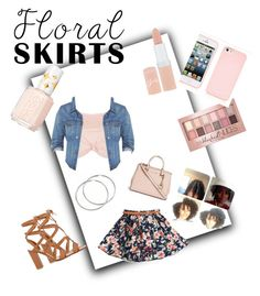 """Floral outfit"" by oyeket14 ❤ liked on Polyvore featuring Topshop, Madewell, Rimmel, Gianvito Rossi, Maybelline, Essie and Floralskirts"