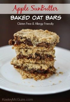 Gluten Free & Allergy Friendly: Apple SunButter Baked Oat Bars {Gluten Free & Allergy Friendly}
