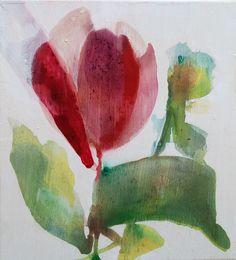 red tulip by zoya scholis zoyart.com