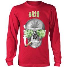 #420 Mens Longs Sleeve Weed Shirt