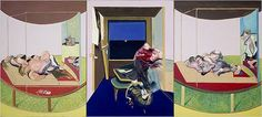 "Francis Bacon. Triptych - inspired by T.S. Eliot's poem ""Sweeney Agonistes,"" 1967."