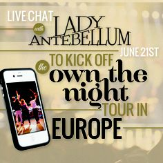 We will be chatting LIVE with the Lady A'ers worldwide on June 21st! Click for details and to submit your questions!