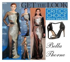 """""""Bella Thorne Critics Choice Awards December 11, 2016"""" by valenlss ❤ liked on Polyvore featuring Stuart Weitzman"""