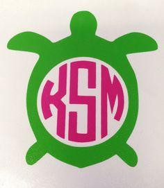 Turtle MONOGRAM decal delta zeta