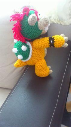 amigurumi englisch free guide Archives - - Häkeln - Amigurumi Tips Mario Bros, Bowser Mario, Yoshi, Crochet Toys Patterns, Amigurumi Doll, Crochet Projects, Free Pattern, Crafts, Bibs