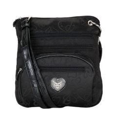 Designer Inspired Jacquard Heart Messenger/ Crossbody Handbag $37.49