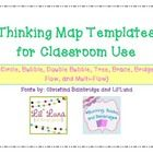 Thinking Map Templates- for all cognitive processes and aligned to Common Core!!