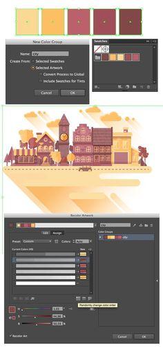 #flatdesign #cityscape How to Create a Flat Cityscape in Adobe Illustrator: