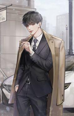 Dark Anime Guys, Cool Anime Guys, Hot Anime Boy, Handsome Anime Guys, Anime Art Girl, Manga Art, Manga Anime, Fantasy Art Men, Boy Art