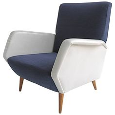 Gio Ponti Armchair Model 803, Italy, 1954 | From a unique collection of antique and modern armchairs at https://www.1stdibs.com/furniture/seating/armchairs/