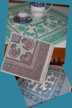 Tecendo Arte: Toalha de cozinha bordada em tecido xadrez.