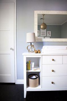 Dresser - Land of Nod + drawer pulls @Anthropologie