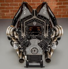 This is the twin turbo charged engine of the SSC Tuatara (a lizard? 360 cu in; The headers are hopefully tuned. I'd hate to think all that curved pipe is just eye candy. Ls Engine, Bike Engine, Motor Engine, Muscle Cars, Crate Motors, Mechanical Art, Performance Engines, Race Engines, Twin Turbo