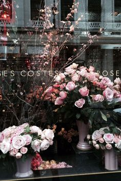 Morning walk past beautiful Hôtel Costes flower shop!   - ELLE.com