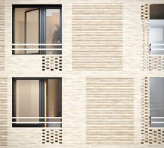 The building has a lot of floors that can be all yours for a day! If you really need to paint your brick building, find a vapor-permeable paint. Brick is never the whole part of the wall, even though it… Continue Reading → Stage Architecture, Social Housing Architecture, Architecture Design, Brick Design, Facade Design, Exterior Design, Brick In The Wall, Brick And Stone, Building Exterior