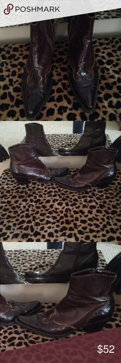 Franco Sarto half boots Adorable half boots by Franco Sarto size 7 these are so cute!!! And comfy too Franco Sarto Shoes Ankle Boots & Booties
