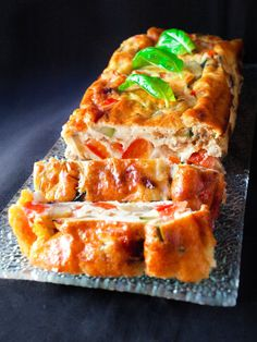 Vegetable terrine with Parmesan cheese - - Veggie Recipes, Snack Recipes, Cooking Recipes, Healthy Recipes, Snacks, Vegan Market, Sandwich Cake, French Desserts, French Recipes
