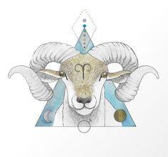 Aries the Ram ♈ - Sarah Luckyheart - Astrology party Aries Art, Aries Astrology, Zodiac Art, Aries Zodiac, Aries Horoscope, Capricorn Facts, Ram Zodiac Sign, Aries Ram Tattoo, Aries Symbol