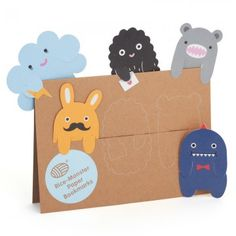 Noodoll Rice Monster Paper Bookmarks