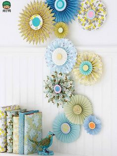 DIY handmade paper flowers crafts wedding decoration