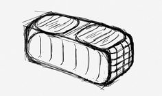 Garden Bench // Sketch by S. Klingler
