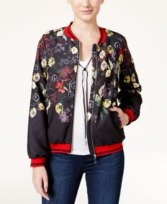 Fair Child Floral-Print Bomber Jacket Sale $82.99 Reg. $99.00 Add a hot look to your closet with this pretty floral-print bomber jacket by Fair Child.