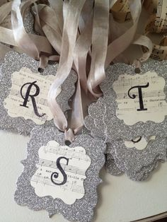 use Christian words instead of letters...emboss glitter around pattern paper