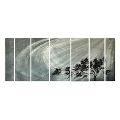 Solitude Metal Wall Art - Set of 7 - 60W x 23.5H in. - MAD00044