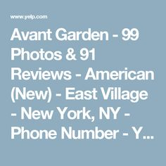 Avant Garden - 99 Photos & 91 Reviews - American (New) - East Village - New York, NY - Phone Number - Yelp