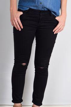 'That Favorite Pair' Black Distressed Skinny Jean