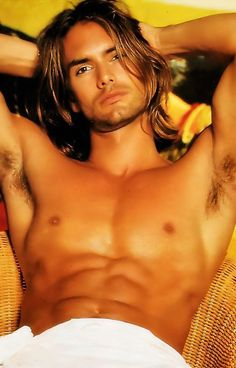 Swedish model Marcus Schenkenberg is sublime. Those abs, and all those sexy muscles, and the long hair with those sinfully dark eyes. So yummy! Hot Guys, Hot Men, Marcus Schenkenberg, Gorgeous Men, Beautiful People, Look Girl, Le Male, Hommes Sexy, Raining Men