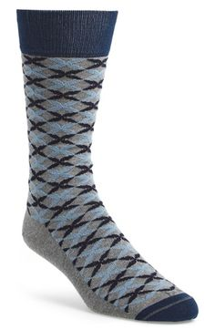 Men's hook + ALBERT 'Jonquil' Socks - Blue