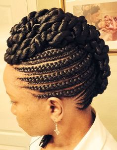 Feed In Cornrows - http://www.blackhairinformation.com/community/hairstyle-gallery/braids-twists/feed-cornrows/ #braidsandtwists