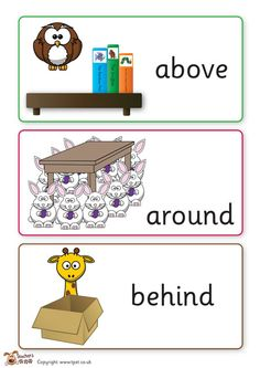 Teacher's Pet Displays » Positional language cards » FREE downloadable EYFS, KS1, KS2 classroom display and teaching aid resources » A Sparklebox alternative Ks2 Classroom, Classroom Language, Primary Classroom, Classroom Displays, Primary Maths, Primary Teaching, Teaching Aids, Preschool Math, Fun Math