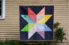 Love this version of the giant star quilt.