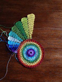 Diy Crafts - Ravelry: Project Gallery for Fractal pattern by Essi Varis Crochet Motifs, Crochet Mandala, Freeform Crochet, Thread Crochet, Knit Or Crochet, Irish Crochet, Crochet Flowers, Fractal Patterns, Doily Patterns