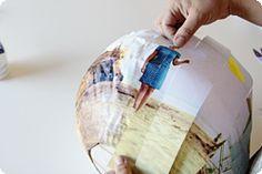 DIY photo paper lanterns